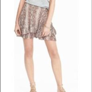 NWT Banana Republic Snake Tiered Pleated MiniSkirt